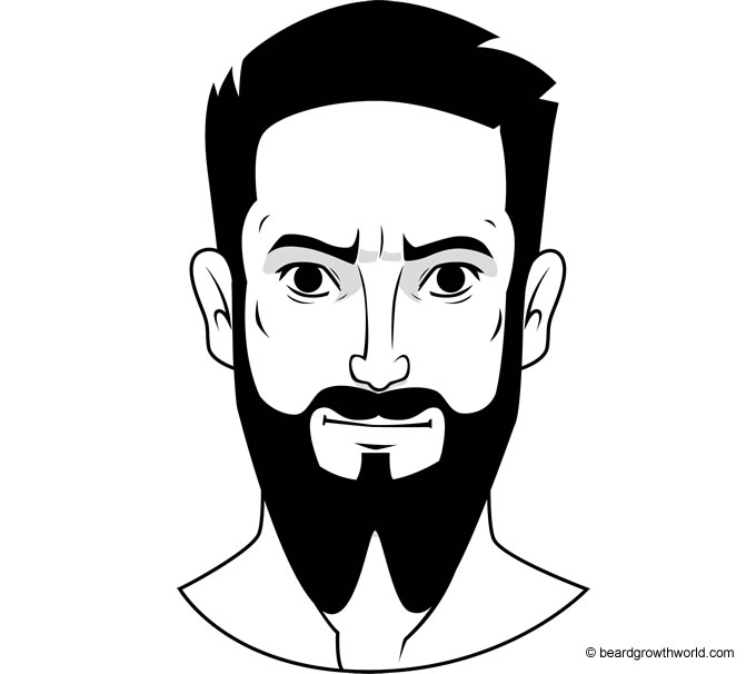 French Fork beard style