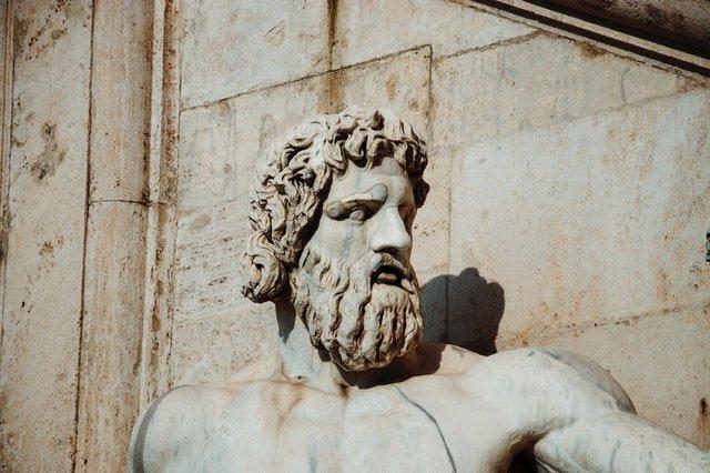 bearded Roman statue