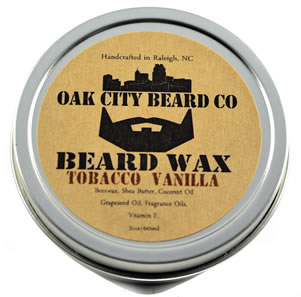 Oak City Beard Company Tobacco Vanilla Beard Wax