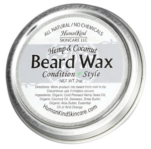 HumanKind Skincare Hemp Coconut Beard Wax