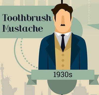 1930s toothbrush mustache