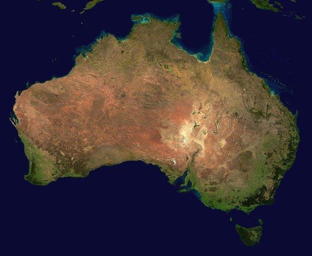 aerial view of Australia
