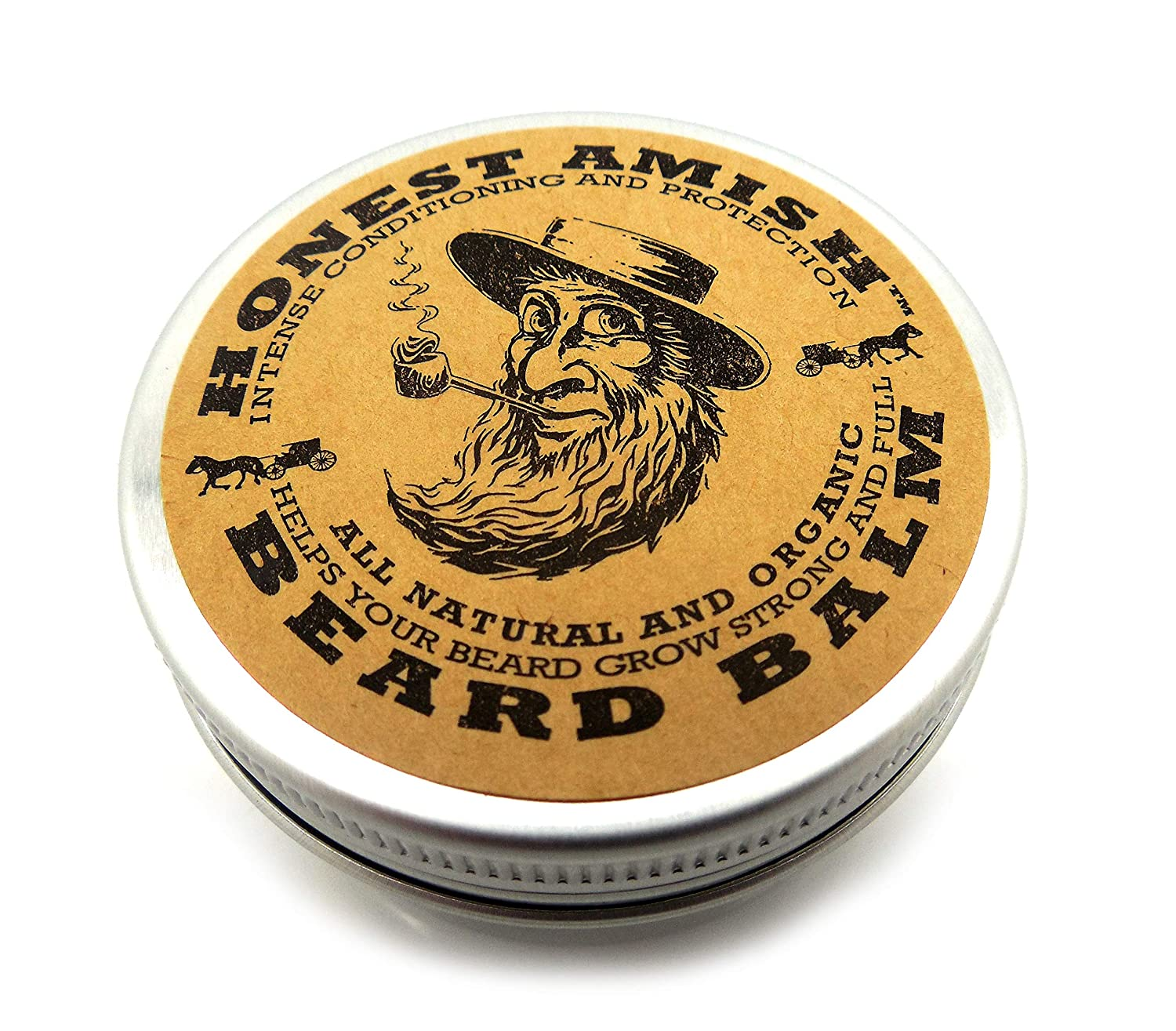 honest amish beard balm leave-in-conditioner, 4oz.