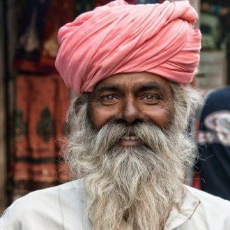 man with soft beard