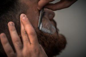 shaping beard with razor